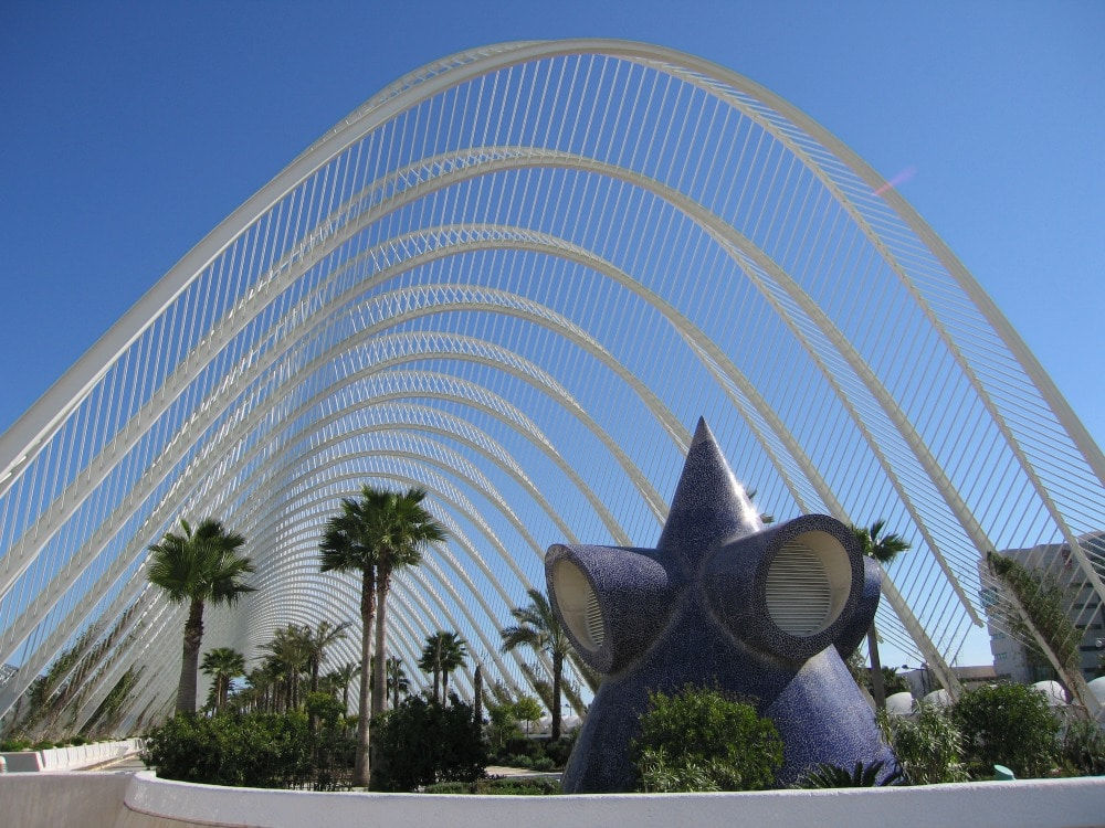 Rick Steves suggests visiting modern building when you travel like the  Art and Sciences Building in Valencia Spain