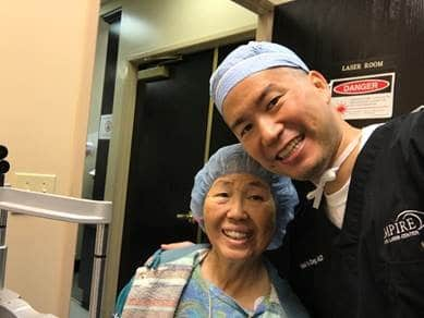 Cataract Surgery - Dr. Daniel Chang M.D, and Mom