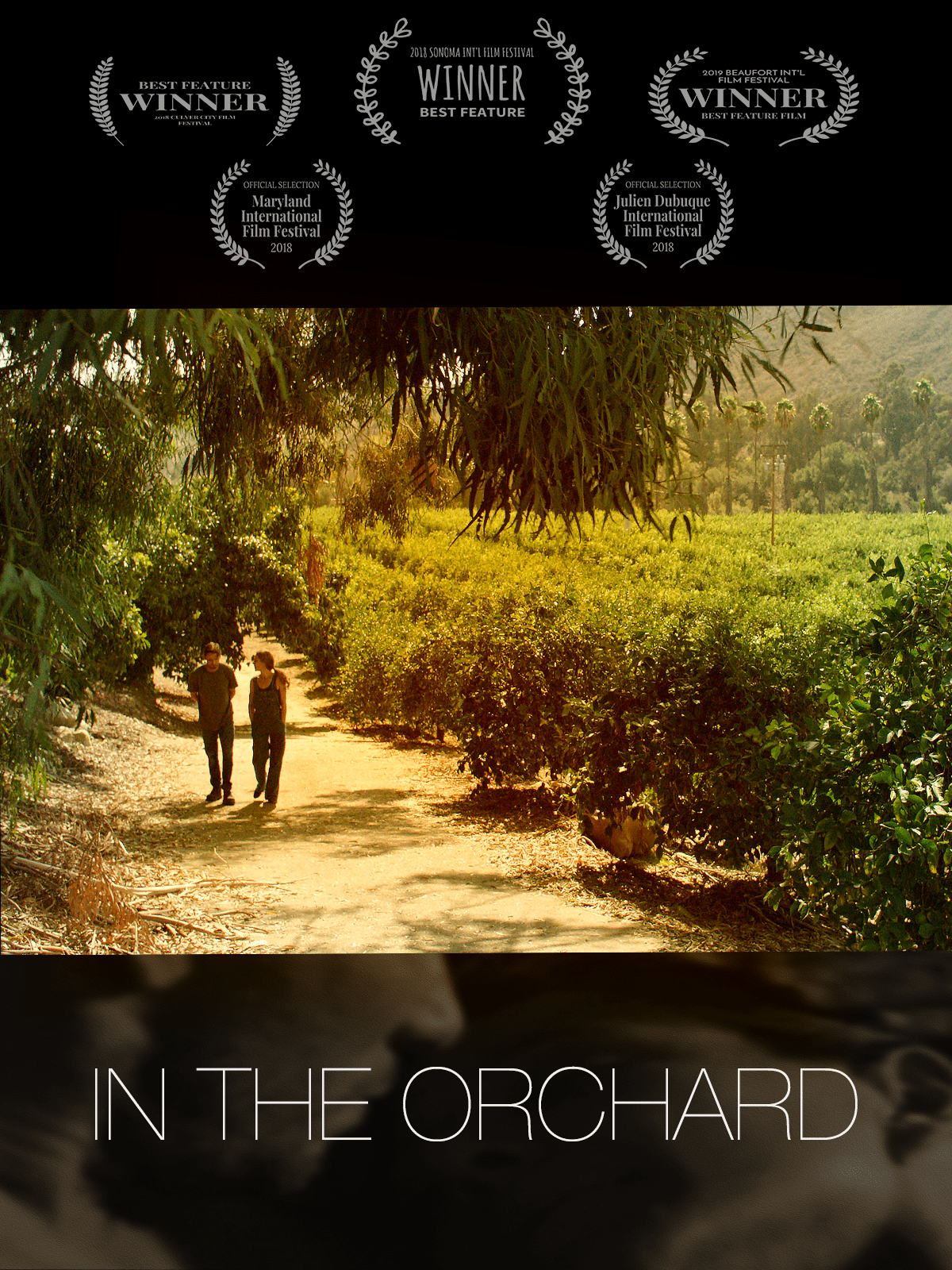 In the Orchard is an independent film that has won multiple awards at film festivals including Sonoma International film festival, Culver City Film Festival and Beaufort Film Festival #film #independentfilm. It is the story of a woman who has lost her family in an accident and befriends a homeless vet.
