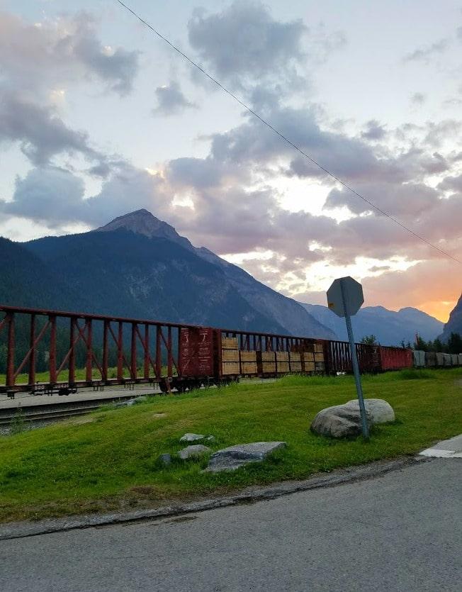 Canadian Pacific #Railroad - Field, #Canada #BritishColumbia #travel #train #sunrise