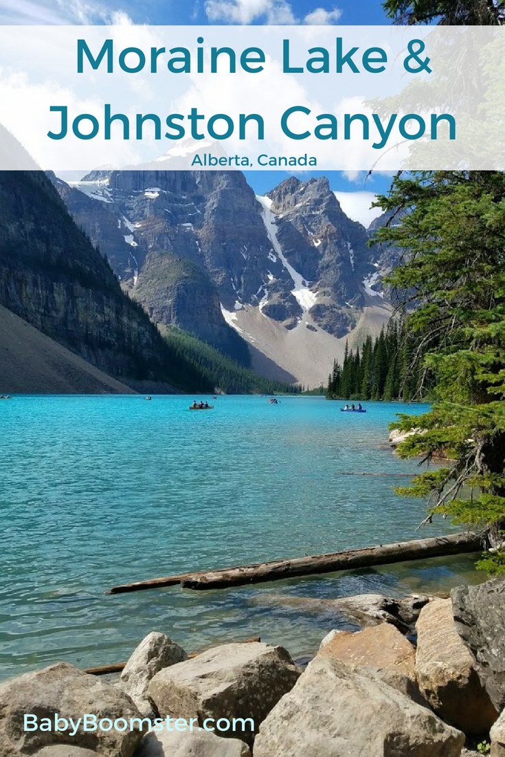 Tour of Moraine Lake and Johnston Canyon in the #CanadianRockies #hike #lake #Canada #travel #boomertravel #travelover50