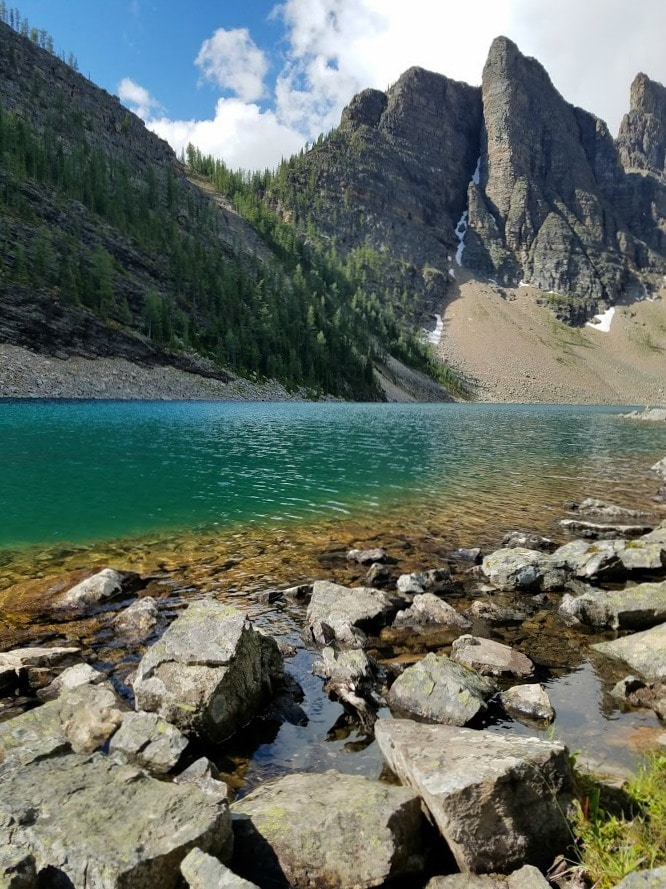 View from the shore at Lake Agnes - #LakeLouise #Canada