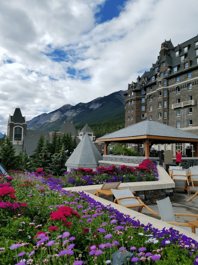 A view from the back of the Fairmont Banff Springs Canada