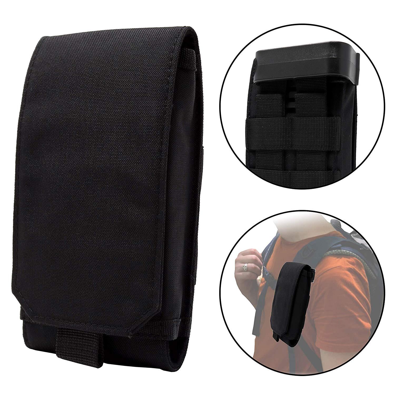 Clakit Smartphone Strap Pack - Backpack Shoulder Strap Pouch (Black)