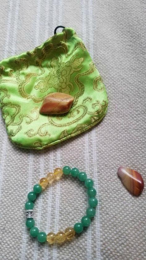 Prosperity bracelet made with citrine, green aventurine, sterling silver from Etsy #ad #bracelet #prosperity