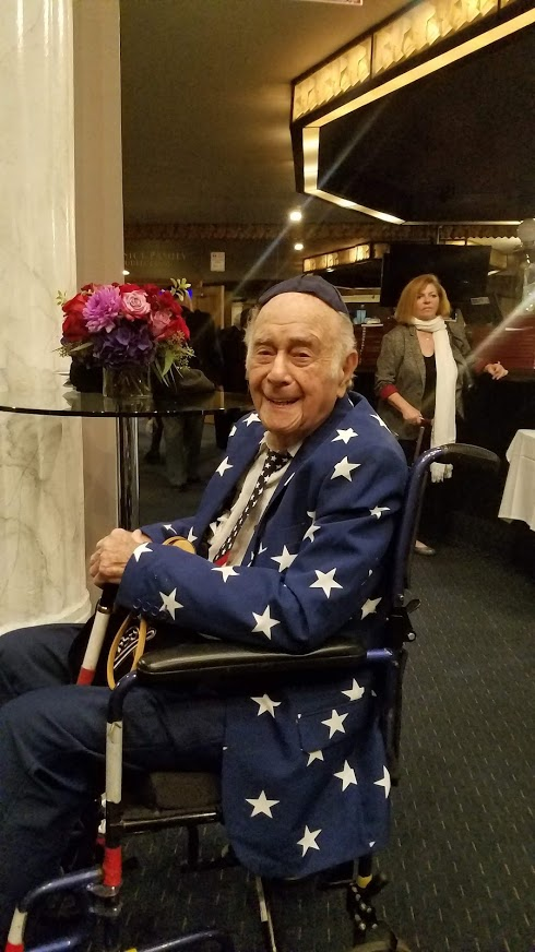 Sam Reiner - age 94 - WWII Veteran and double Purple heart recipient - fought in the Pacific
