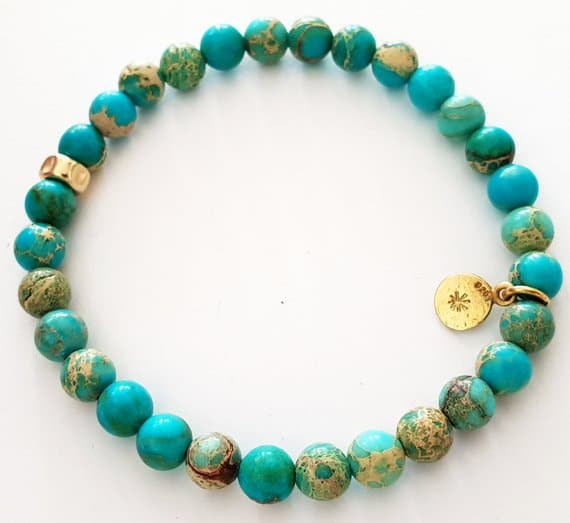 Etsy - Sea Sediment Jaspar bracelet - Boho-style