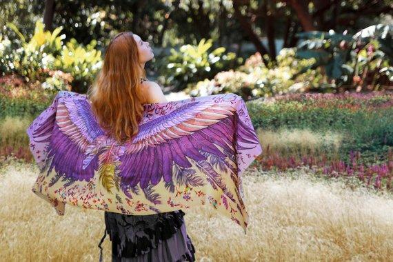 Exotic tropical shawl - Etsy - Boho-style