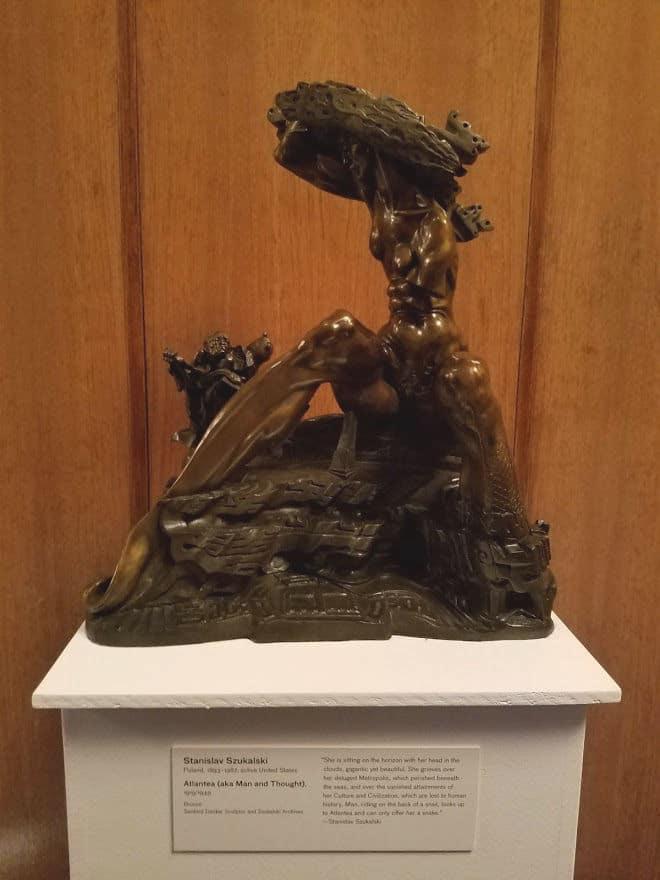 Atlantea - sculpture by Stanislav Szukalski