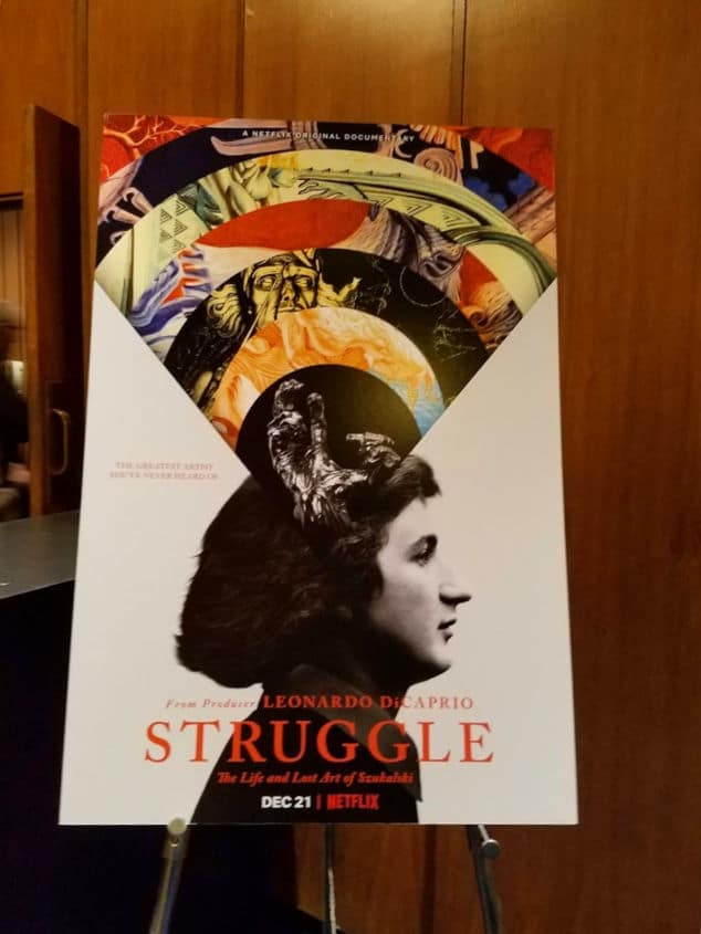Lobby card for the documentary film Struggle - The life and lost art of Stanislav Szukalski
