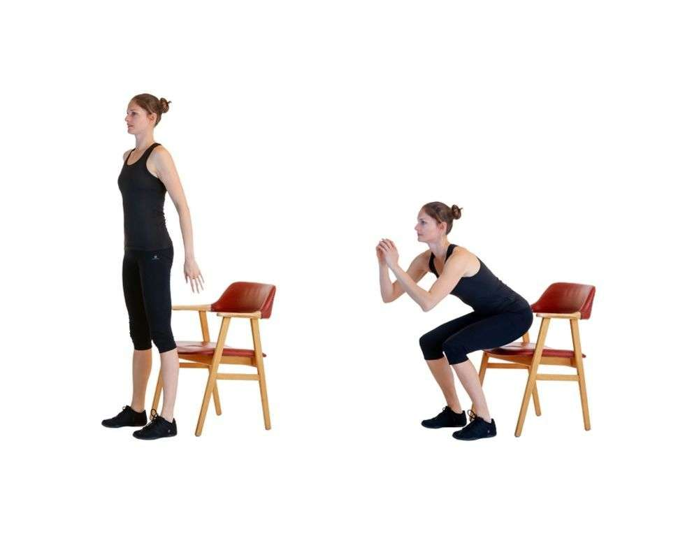 Squat to Chair Strength training move