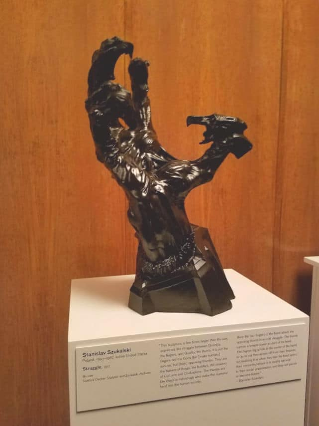 Struggle - sculpture by Stanislav Szukalski - recovered and restored years after the destruction of Warsaw in WWII