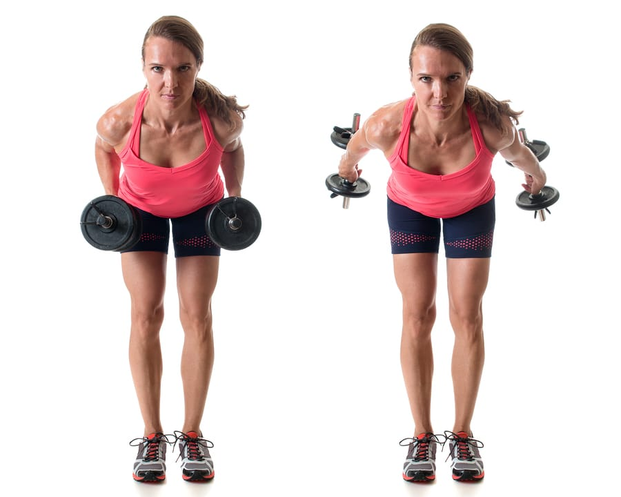 Triceps kickback exercise - best strength training exercises over 50
