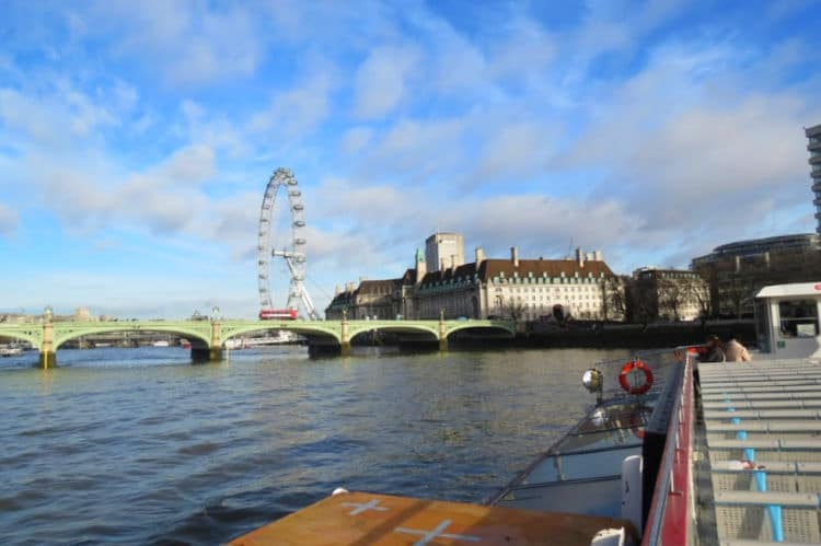 We saw the London Eye from our City Cruises tour with Big Bus Tours #LondonEye #London #citycruises #bigbustours