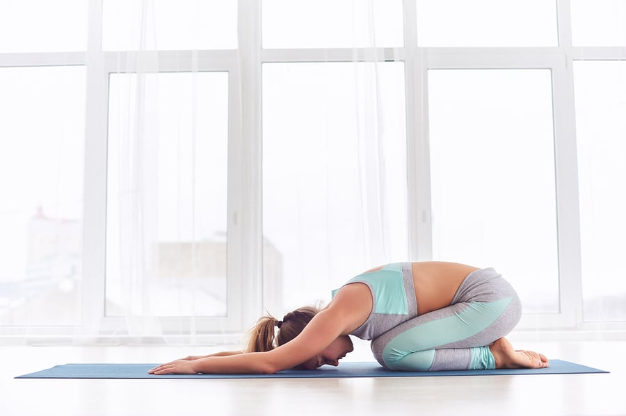 Child's pose - Do this, and you can help to deal with things like lower back pain and neck pain without much issue -