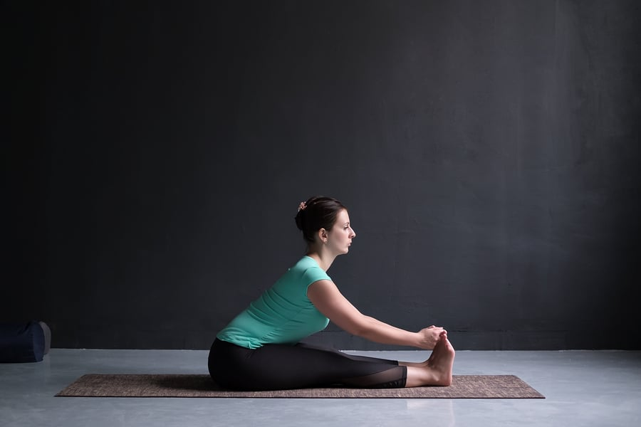 Seated Forward Bend pose - helps you work on the circulation within the body