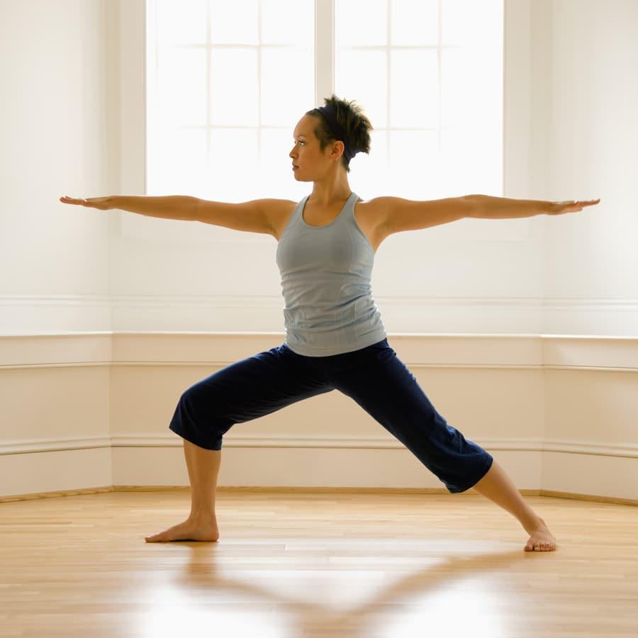 Warrior Pose - Yoga for women over 50