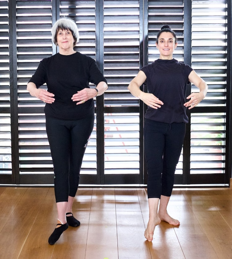 Tendu and 1st position - online ballet classes for people over 50