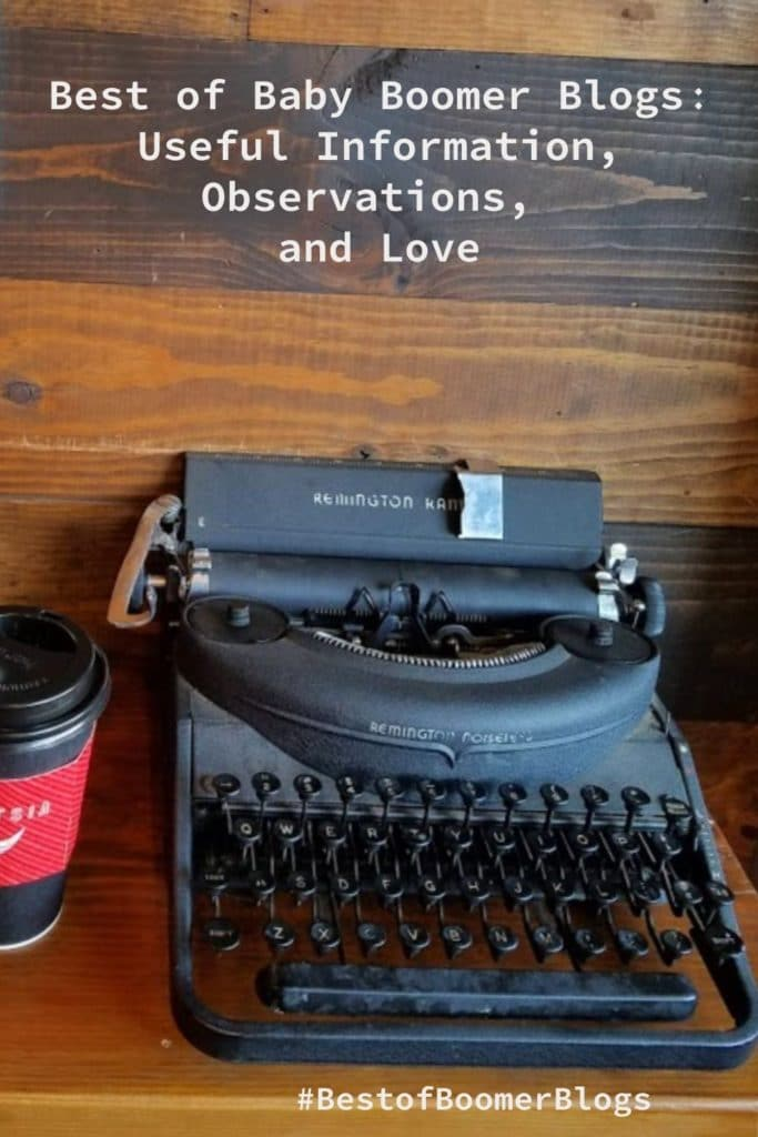 Typewriter - Best of Boomer Blogs Useful Information
