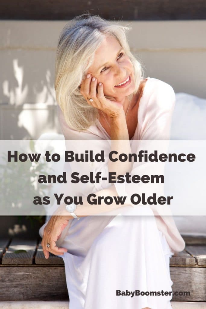 Build confidence and self esteem - older woman contemplating life