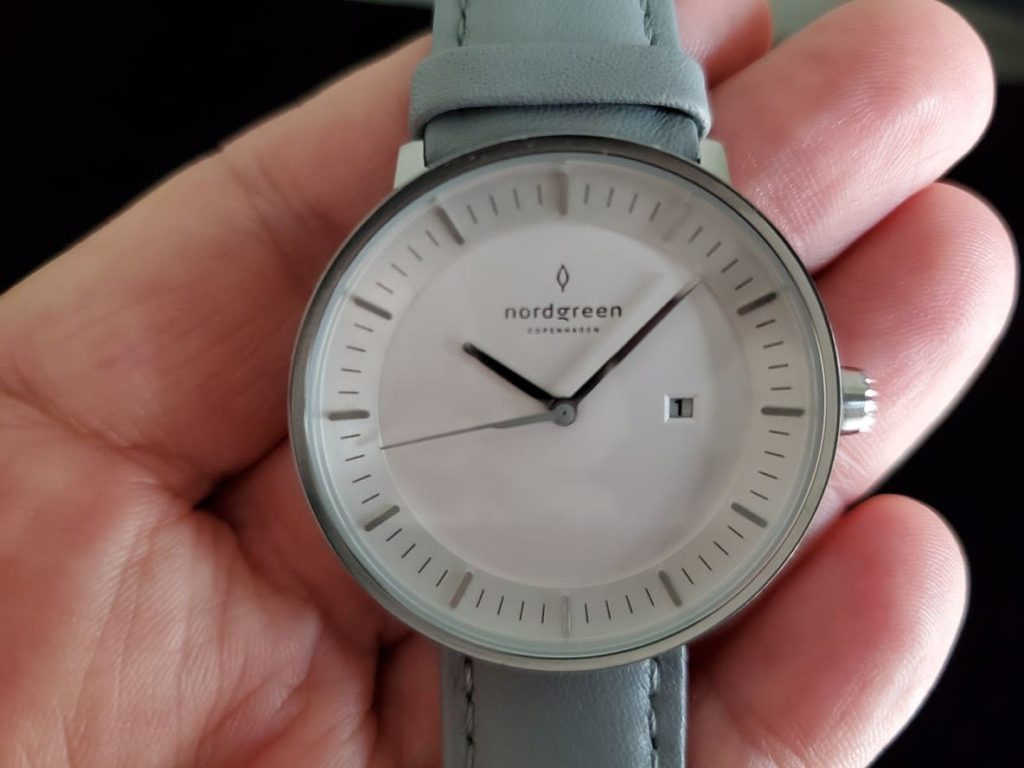 Nordgreen watch in silver with gray strap