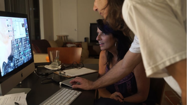 My First and Last Film - Tracey Thomas, director in the editing room.