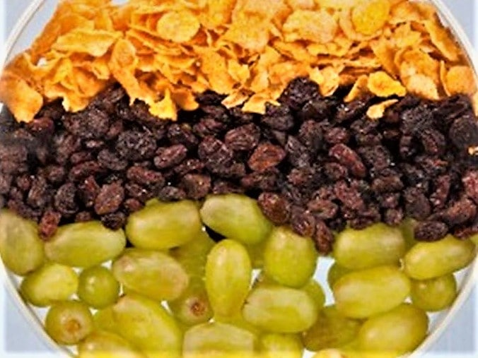 Grapes, raisins, cornflakes - like aging skin