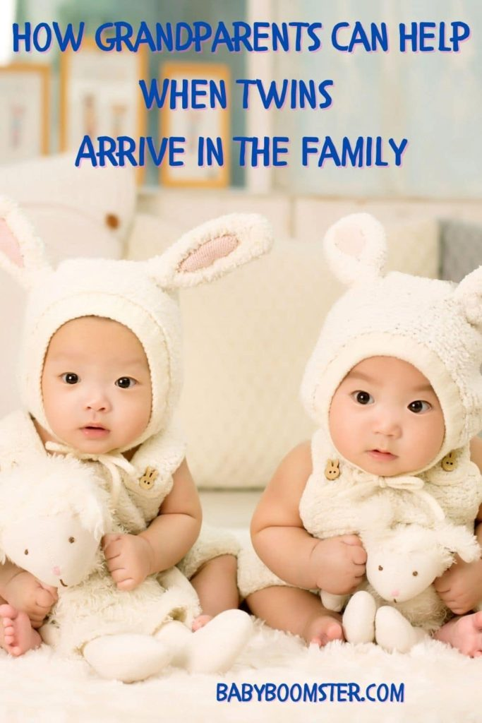 Twins - Babies with bunny hats