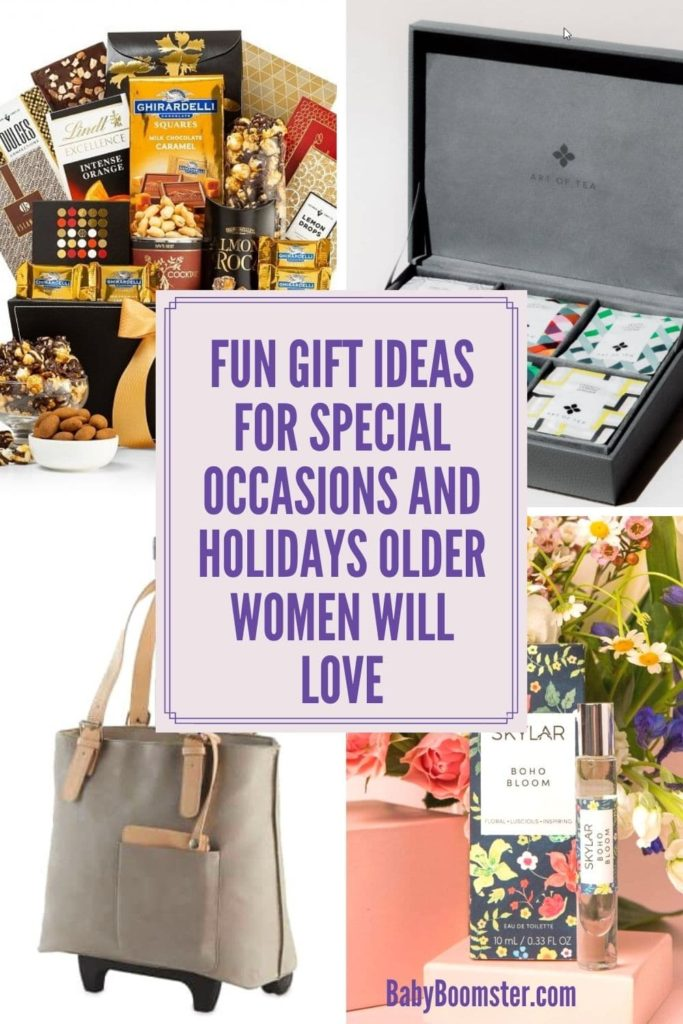 Gift ideas for older women for special occasions and holidays.