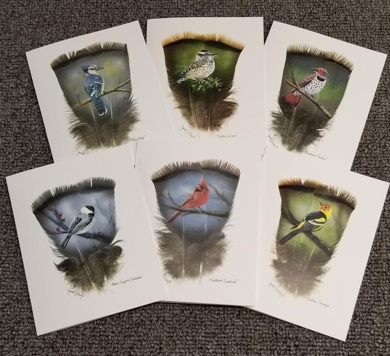 Janet Leroy feather art