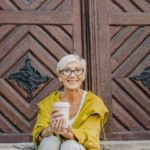 older woman traveling solo