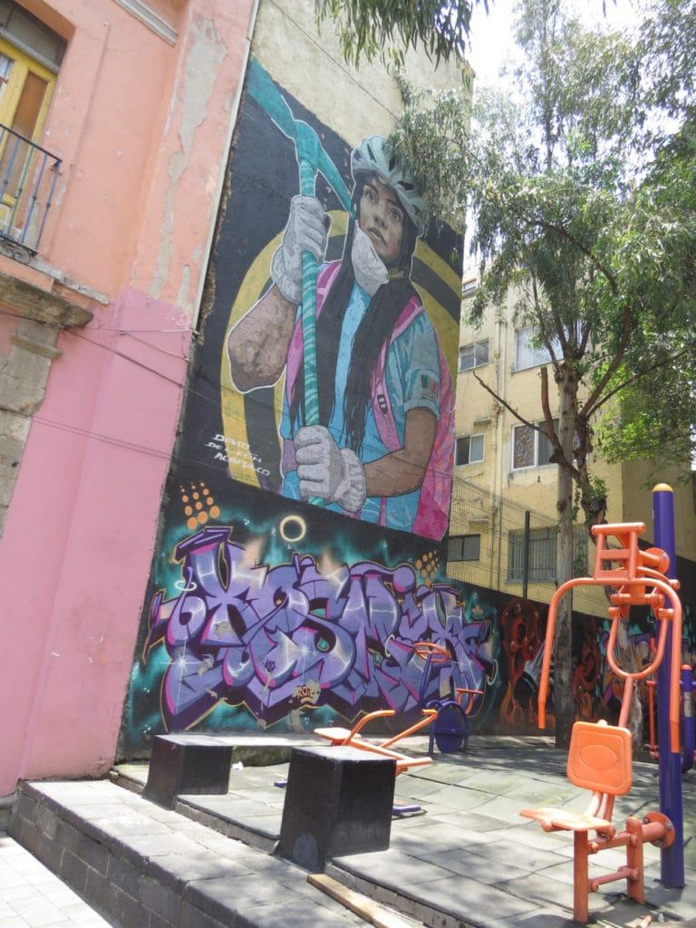 Mural at a playground Mexico City