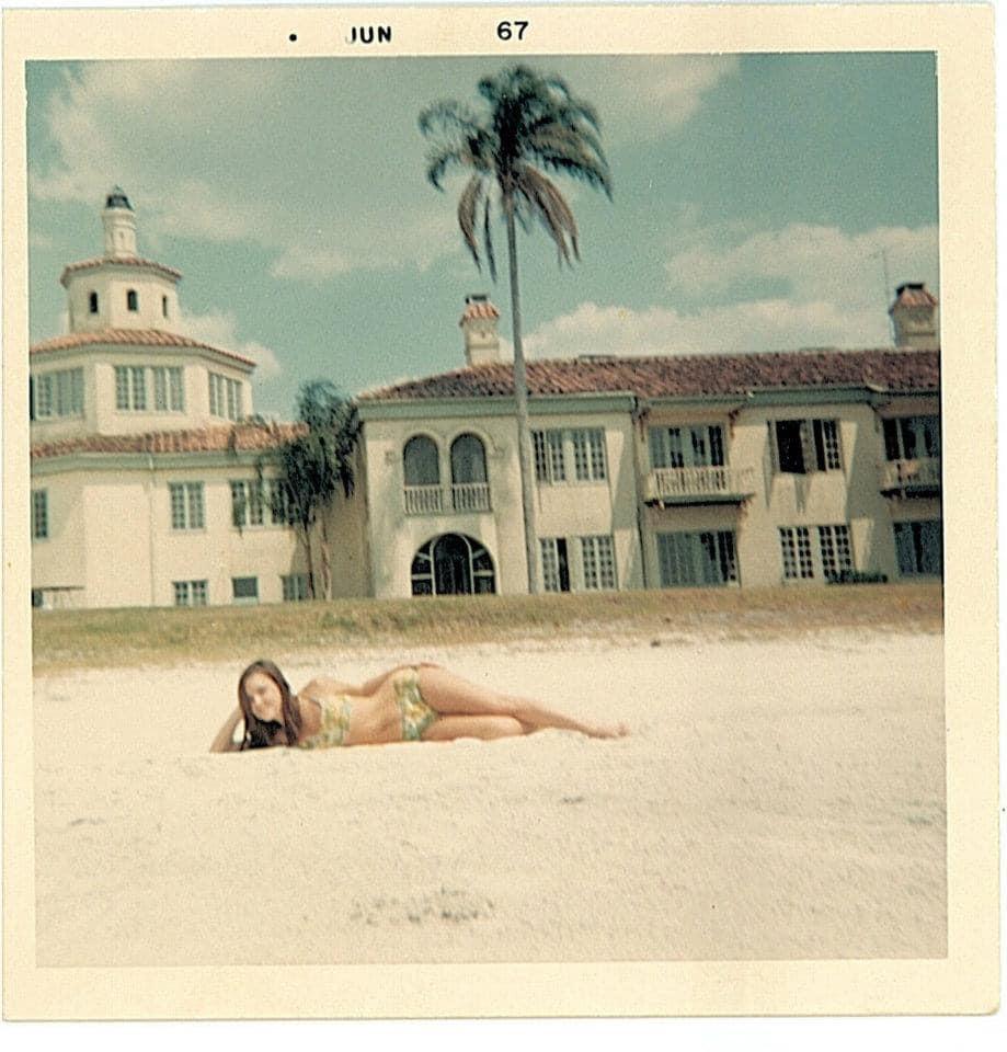 Girl in 1967 on the beach.