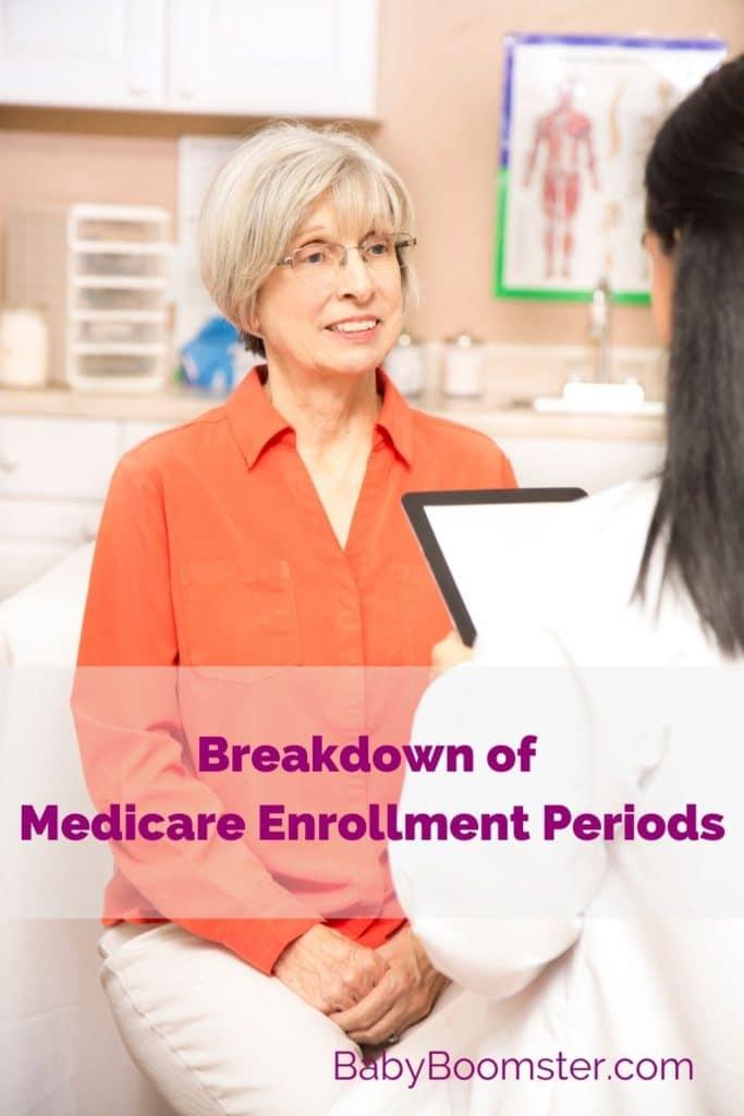 Medicare enrollment - senior woman at doctor's office