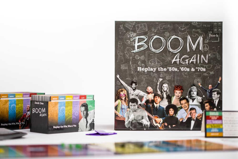 Boom Again trivia game for Baby Boomers
