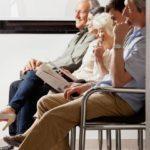 Seniors in waiting room