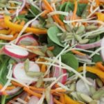 Spinach Salad with Pumpkin Oil Dressing